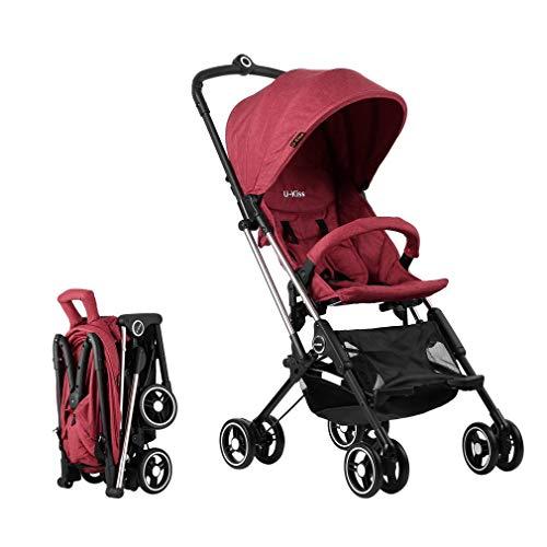 ALTERDJ hondenbuggy Pet stroller hondenwagen robuust jogger kattenbuggy Comfort - luchtbanden - kinderwagen voor honden met één hand inklapbaar rood, rood