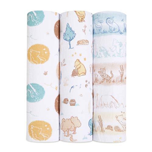 aden + anais Pack de 4 Maxi-langes Grand Format en Mousseline de 100% Coton Disney Baby - Winnie in The Woods 120 x 120 cm