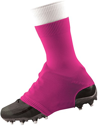 TCK Football Spat Cleat Covers (Neon Pink, Large)