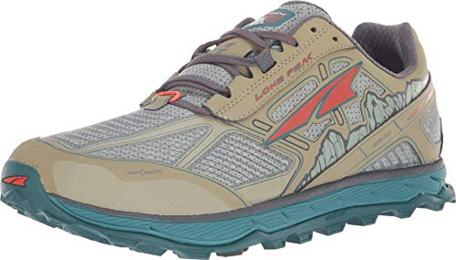 ALTRA Men's ALM1855L Lone Peak 4 Low RSM Waterproof Trail Running Shoe, Green - 9 M US