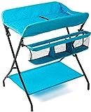 lqgpsx Wickeltisch Portable Fold Kommode, blau Nursing Baby Cot Windel Station Nursery Organizer für Kleinkinder