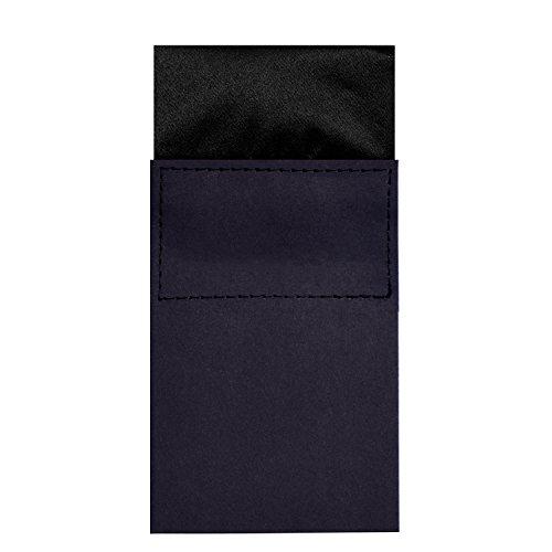 DonDon pochette da taschino Uomo con base in cartone e angoli ripiegati grandezza modificabile fazzoletto da taschino nero