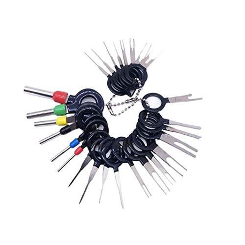 KHHGTYFYTFTY 26pcs Terminals Removal Tools Auto-elektrisches Kabel Verdrahtung Crimp Pin Extractor Kit für die meisten Stecker Klemme