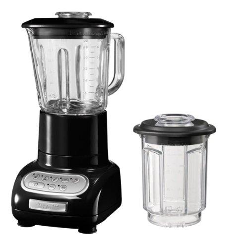 KitchenAid 5KSB5553EOB - Batidora de vaso, con capacidad del tazón de 0.75 l, 550 W, 220-240 V, color negro