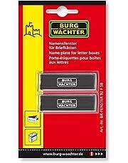 Burg-Wächter BK 92 F SB Set van 2 naamplaatjes, brievenbus accessoires, verzinkt plaatstaal