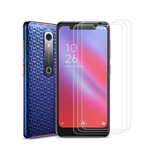 SCDMY Panzerglas Displayfolie für Vodafone Smart N10, Reiner Glasschutzfilm, Keine Luftblasen, Kratzfest, Anti-Fingerprint [ 5.67 Zoll, 9H-Härte, 0,3 MM Dicke, 3 Pack ]