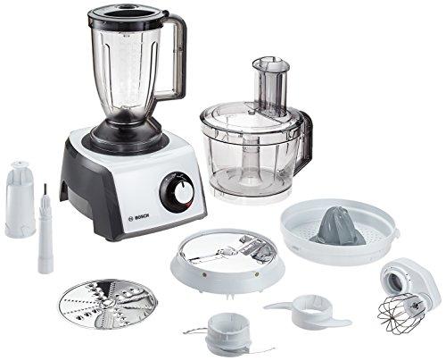 Bosch MCM62020 Robot da Cucina, 1000 W, 1.5 Litri, Plastica, Acciaio Inossidabile, Bianco