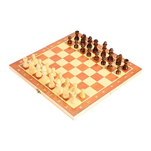 DAUERHAFT Tablero de ajedrez de Madera Estable Ligero, para Actividades Familiares de Fiesta