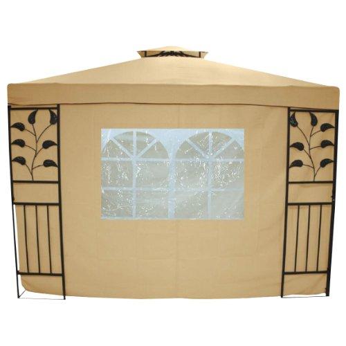 greemotion Seitenwand Livorno mit Fenstern beige, Seitenplanen im zweier Set, Seitenteile aus strapazierfähigem Polyester