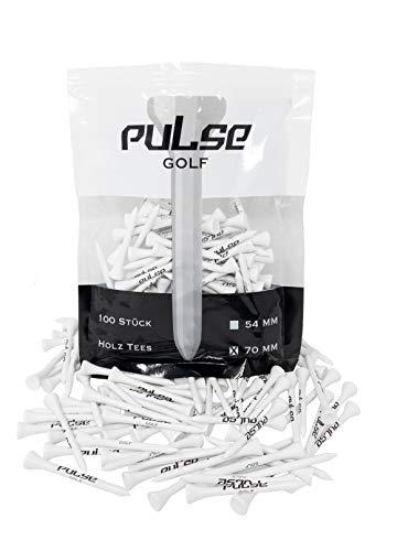 Premium Holz Golf Tee - 100 Stück (Weiß, 70)