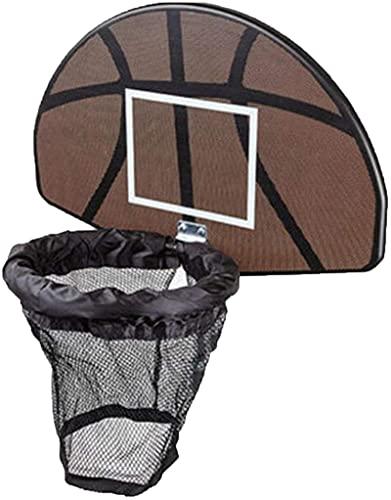 DLXYch Basketball-Rahmen, strapazierfähiges und praktisches Trampolin-Basketballkorb-Set, Basketballzubehör, Erwachsene und Kinder