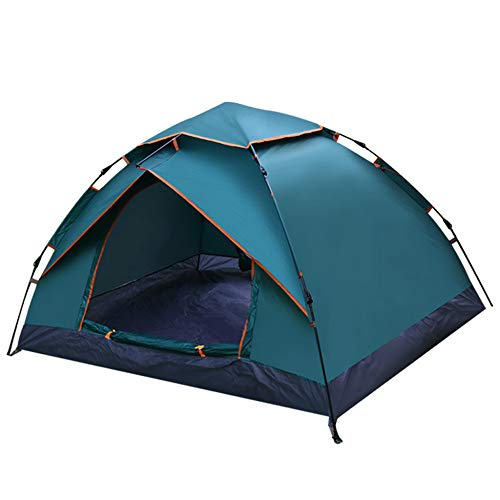 LBYLY Double Automatic Tent Speed Open Shade Fake Double Tent Beach Camping Tent,墨绿
