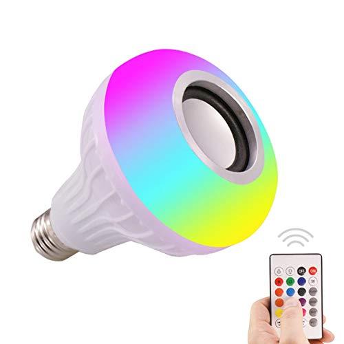 shizhongminghe-IT Smart Music LED-Leuchtmittel für Lautsprecher E27 Fernbedienung Wireless Glühbirne Audio 12 W 220 V RGB Musik-Player Weiß
