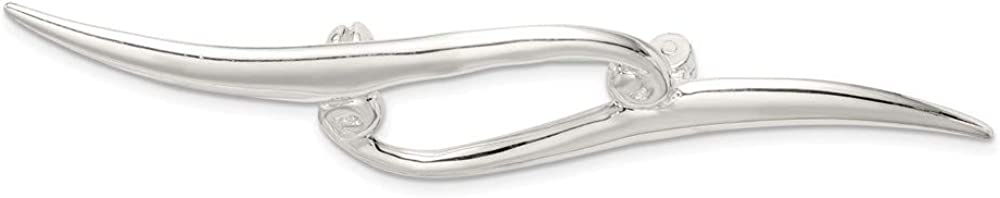 925 Sterling Don't miss the campaign Silver Scroll Pin 2021new shipping free Double
