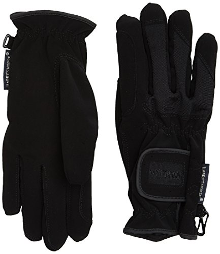 Harry's Horse Handschuhe Domy/Mesh-XL Guantes, Mujer, Negro