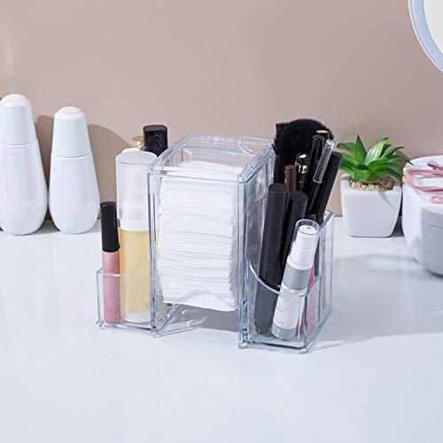 GFFTYX Caja De Maquillaje Organizador Minimalista Moderno Que Ahorra Espacio En Capas Tocador Mesa Paleta Pincel Base Lápiz Labial Joyería para Chicas
