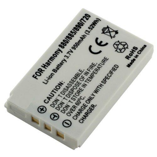 Akku, Ersatzakku mit 950mAh !!! für Logitech Harmony 720 / 785 / Logitech Harmony 880 / 885 / 890 / 895 / Logitech Harmony 900 / Logitech Harmony One ohne Memory-Effekt Li-Ion PDA-Punkt