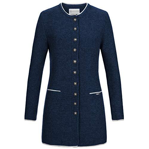 GIESSWEIN Gehrock Lotte - Lange Damen Strick-Jacke aus Lammwolle, Wolljacke, Mantel aus Wolle, taillierter Damenmantel