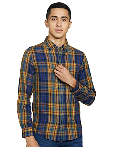 United Colors of Benetton Men's Dress Shirt (8903975458321_17A5DD32U008I_Medium_Brown)