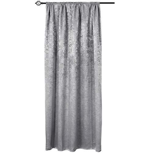 cortinas salon gris plata