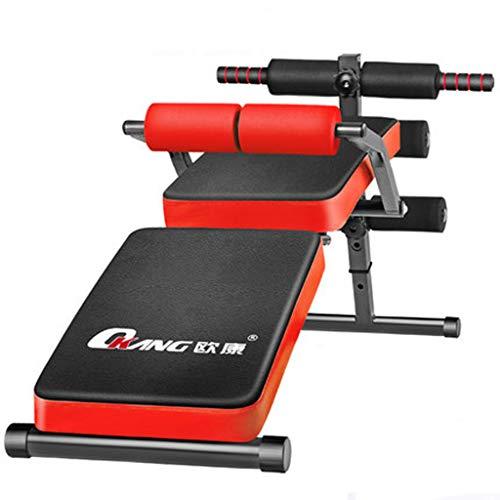 Fantastic Deal! DLT Foldable AB Bench Decline Slant Board, Gym Exercise Reverse Crunch Handle Abdomi...