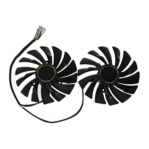 BIlinli 2 uds 95MM PLD10010S12HH 6Pin Enfriador de Tarjeta de Video gráfica VGA Ventilador para MSI GTX970 GeForce GTX 970 Gaming Ventiladores Dobles Doble Ventilador de refrigeración