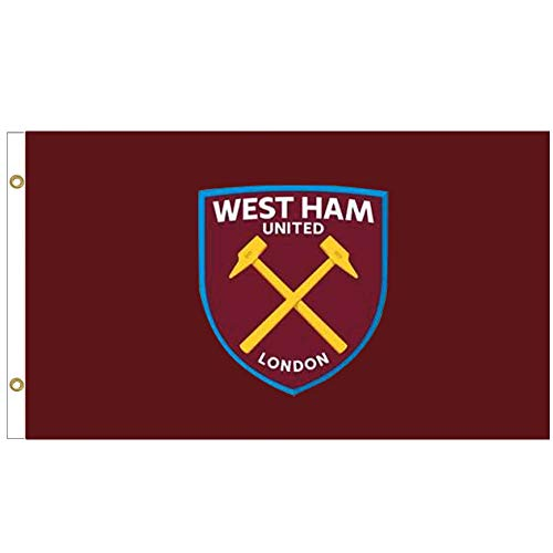 Giant West Ham United Crest Premier League Vlag (5ft x 3ft & 100% Polyester)