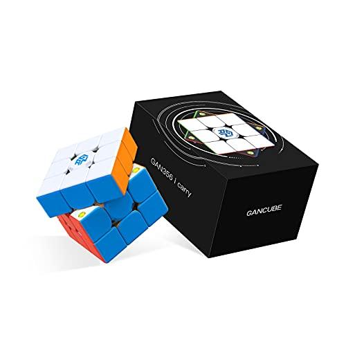 GAN 356 i Carry, 3x3 Smart Cube Puzzle Cube Geschwindigkeit Würfel Aufkleberloser Magnetwürfel, Intelligentes Knobelspiel mit CubeStation App