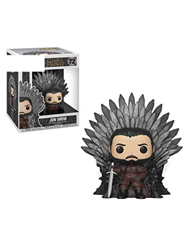 Figura de Vinilo de Game of Thrones S10 Pop: Jon Snow Sentado en el Trono de Hierro, Modelo de Juego de Personajes artesanales estáticos Juguetes de decoración de Personajes