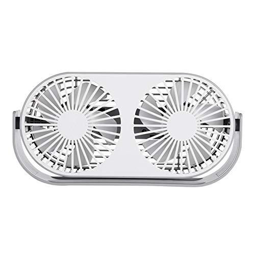 HARUONE Mini Desktop-Fan & Aroma Diffuser, Tragbarer Tischventilator DREI Getriebe Wind, USB-Lade, Bass Geräuschreduzierung, Für Indoor Home Office Dorm,Grau