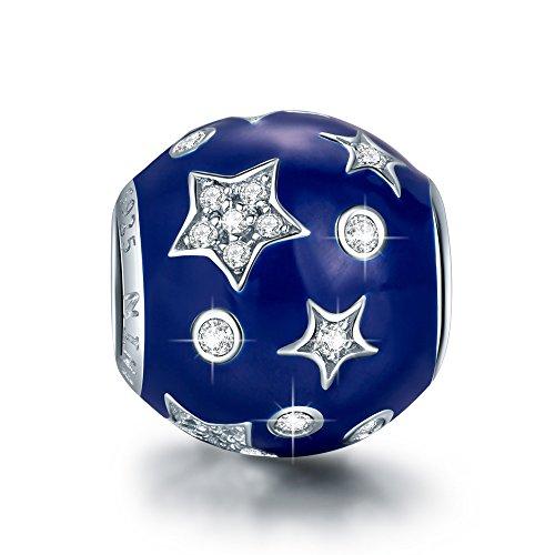 NINAQUEEN Charm Encaja con Pandora Azul Estrella Regalos Mujer Originales Plata de...