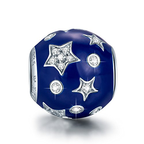 NINAQUEEN Charm fit Pandora Charms Blue Star Women's Jewellery Best Gifts with Jewellery Box 925 Sterling Silver Antibacterial Properties