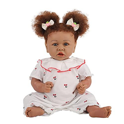 Muñecas Negras De Niña con Cabello Afro, Muñecas Afroamericanas De Juego para Niños Muñecas Negras, Simulación Realista De Moda Juguetes De Juego, 58 Cm