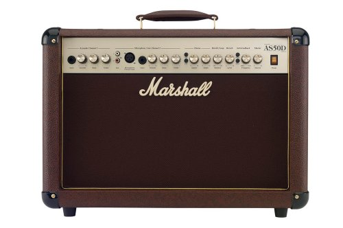 Marshall Acoustic Soloist AS50D 50 Watt Acoustic Guitar Amplifier with 2 Channels, Digital...