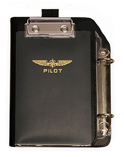 DESIGN 4 PILOTS Aviation Professional Pilot kneeboard, Reduced Size for cramped cockpits, ifr vfr, Christmas Pilot Gift