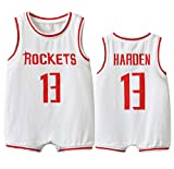 NMABY Harden Houston # 13 Body Basketball Jersey, 6-30 Meses Playsuit Momber Outfit Offit Ropa Grawling White-73(cm)