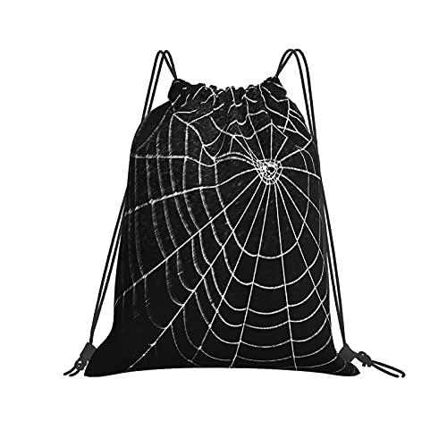 Mochila con cordón de seda araña para gimnasio, senderismo, equipo de natación, entrenamiento, yoga, gimnasio, ejercicio al aire libre
