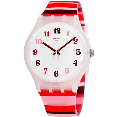 Swatch Unisex Adult Analogue Quartz Watch with Silicone Strap SUOK138
