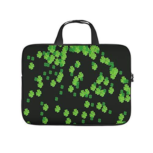 St Patricks Day - Funda para ordenador portátil, diseño de bolsa de ordenador portátil, resistente al agua, con asa portátil, color blanco 17 pulgadas