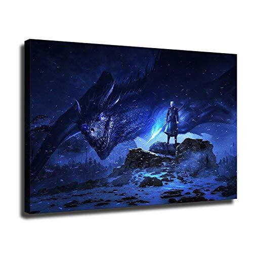 Póster de Juego de Tronos para dormitorio, sala de estar, decoración del hogar, impresión HD, lienzo (30,5 x 45,7 cm, sin marco)
