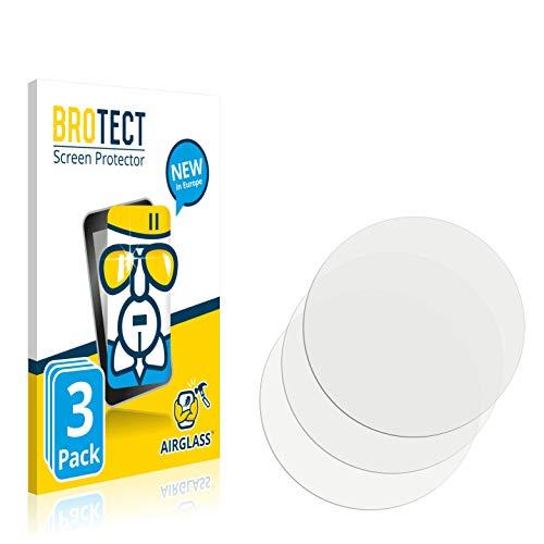 BROTECT Panzerglas Schutzfolie kompatibel mit Garmin quatix 6X Solar (3 Stück) - AirGlass, extrem Kratzfest, Anti-Fingerprint, Ultra-transparent