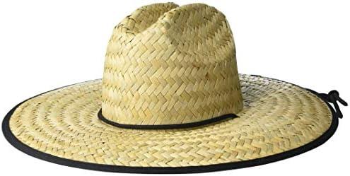 Amazon Brand 28 Palms Men s Straw Lifeguard Sun Hat Black Trim One Size product image