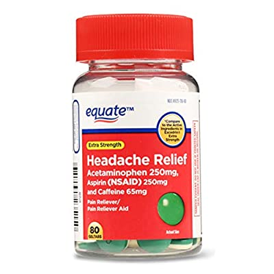 Extra Strength Headache Relief Easy to swallow geltabs Acetaminophen 250mg Aspirin (NSAID) 250mg Caffeine 65mg For Adults Compare to the active ingredients in Excedrin Extra Strength