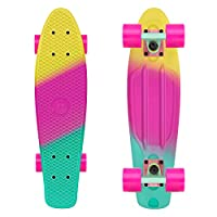 """SUITABLE FOR ALL LEVEL SKATERS - This well-built skateboard is safe to ride and suitable for any level of riders, no matter whether you're a beginner or experienced rider. DURABLE & STABLE - This Complete 22"""" Skateboard Features Super Smooth 60x45mm ..."""
