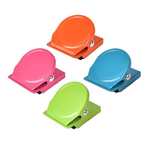 iwobi 16 pezzi Clip di Metallo Magnetico Multicolore,Lavagna Magneti del Frigorifero Nota Clip per Scuola, Cucina,Casa, Ufficio