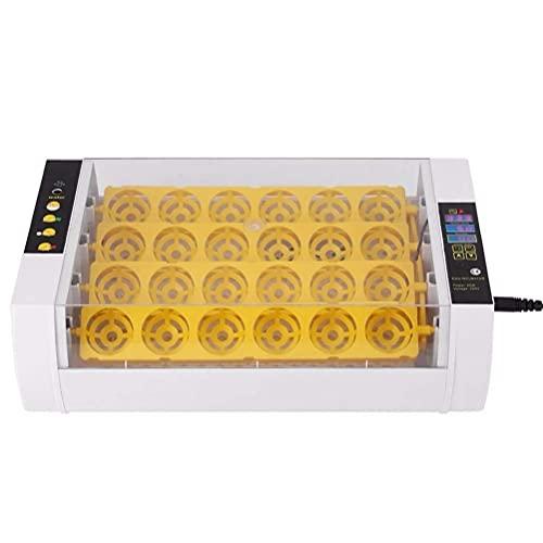 FHISD Incubadora de Huevos 24 Huevos Tamaño Pequeño con Pantalla Digital Automática Nacedora Control de Temperatura y Humedad de Volteo Incubado de Pollos Patos Aves de Corral