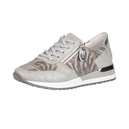 Remonte Damen Low-Top Sneaker R2504, Frauen Halbschuhe,lose Einlage,Sportschuhe,Keilabsatz,weiblich,Lady,Ladies,grau Kombi (43),40 EU / 6.5 EU