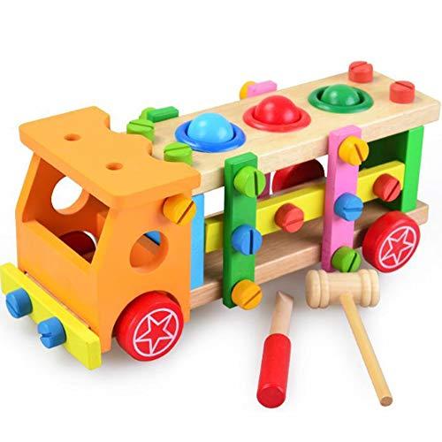 Appuyez sur les vis à billes Panier pour enfants en bois jouet éducatif pour cultiver imagination et la créativité d'exercice mains sur la capacité Convient aux enfants de plus de 3 Ans