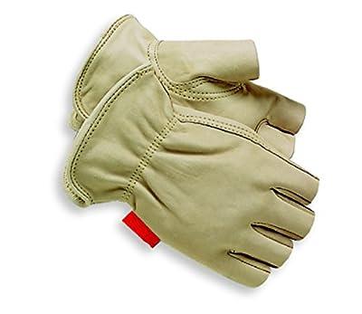 Red Steer 1513 Unlined Grain Cowhide 1/2 Finger General Purpose Work Glove [Price Is Per Pair]