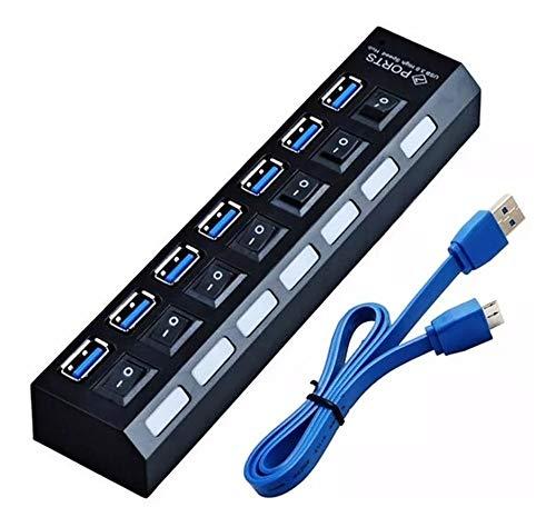 Hub Usb 3.0 7 Portas Alta Velocidade Pendrive Mouse Teclado